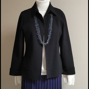 Linda Allard Ellen Tracy Black Open Jacket 6